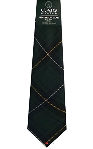 I Luv Ltd Henderson Clan 100% Wool Scottish Tartan Tie