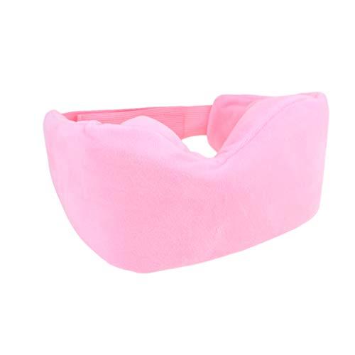 Artibetter 3D Memory Foam Schlafaugenmaske Light Blocking Schlafmaske Eye Blinder für Reisen Schlafen (Pink)