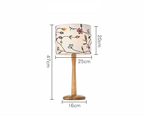 L-C Holztischlampe, Schlafzimmer-Bett Einfache Moderne Wärme Nordische Netzschalter E27 * 1 Energieeinsparung und Umweltschutz Modern, 2