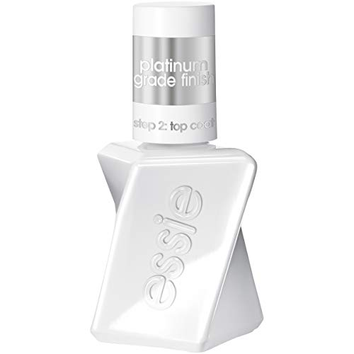 essie gel couture platinum grade finish top coat, top coat, 0.46 fl. oz. (packaging may vary )