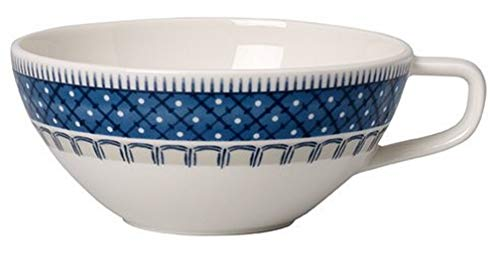 Villeroy & Boch Casale Blu filiżanka do herbaty, porcelana premium, biały/niebieski, 10 x 10 x 7 cm