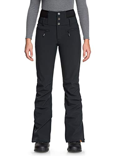 Roxy Damen Rising High Snow Pants, Black, M