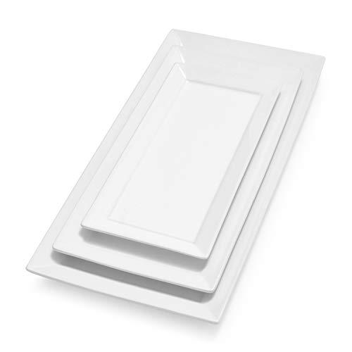 Sur La Table Porcelain Platters HG0992, Set of 3