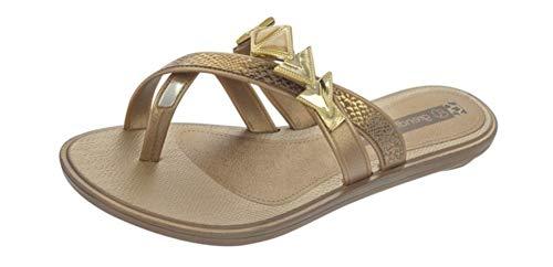 Grendha Glamour Thong Sandalias para Mujer - Oro
