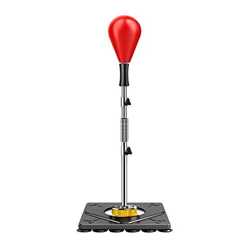 Sandsackzubehör Solid Sphere Boxing Speed Ball Reaktionsball Hochgeschwindigkeits-Rückprall Geeignet Für Ebenen Boden Einstellbare Höhe 56,3-70,9 Zoll (Color : Red, Size : 180cm)