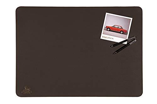 Centaur Schreibtischunterlagen 50x70 cm handgefertigt in Deutschland Schreibunterlage aus Leder Ecken abgerundet rutschfest chocolate braun weitere Farben & Größen