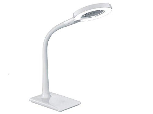 Trio Leuchten LED Tischleuchte 527290101 Lupo, Kunststoff weiß, 5 Watt LED, 4-fach Touch