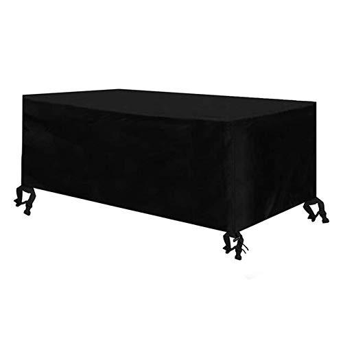Cubierta De Muebles De Mesas Funda para Muebles De JardíN Fundas para Mesas Impermeable 420D Oxford Muebles De Jardin Cubierta ProteccióN Exterior Muebles De JardíN(213 X 132 X 74 Cm)
