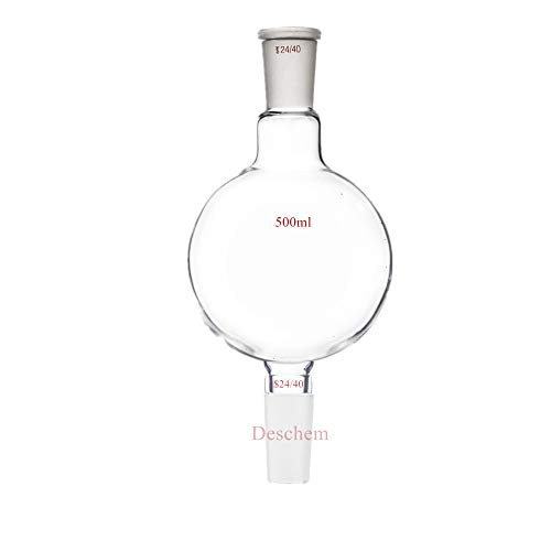 Deschem 500ml 24/40 Chromatography Reservoir Flask Lab Distillation Glass Bottle