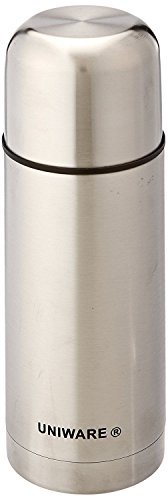 Uniware 2403 Stainless Steel Flask Red/Blue/Silver with Box 350/500/1000 Ml (350ml, Silver)