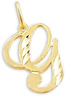 Sonia Jewels 14k Miami Mall Yellow Gold Pendant Letter G Initial Long Beach Mall
