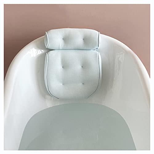 여성과 남성을위한 고급스러운 목욕 베개 강한 흡입 컵과 후크가없는 비 슬립 욕조 스파 베개가 머리 목 및 등받이를 지원하는 데 도움이됩니다