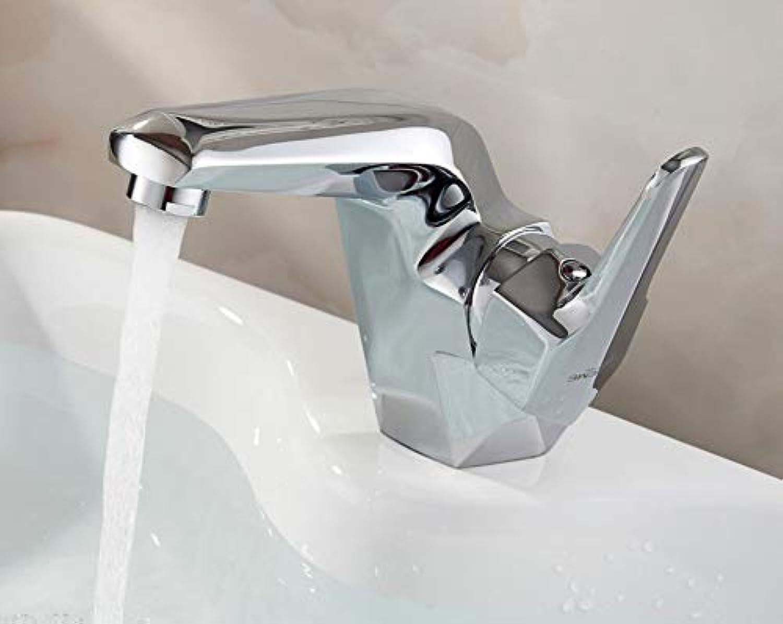 Zlxzlx Bad Becken Wasserhahn Massivem Messing Chrom Deck Montiert Beckenmischer Lcher Einzelgriffe Wasserhahn Biegung Badezimmer
