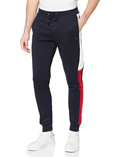 Tommy Hilfiger Herren Intarsia Sweatpants Trainingshose, Wüstenhimmel, L