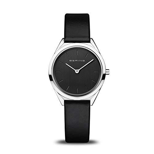 BERING Reloj Analógico Ultra Slim Collection para Mujer de Cuarzo con Correa en Acero Inoxidable y Cristal de Zafiro 17031-402