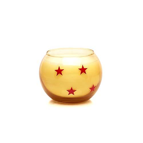 Dragon Ball Z Shenron Candle - Officially Licensed - Namekian Kami - Goku Four Star Ball - Sandlewood Scented - Anime Gifts - Kamehameha Flame Light - Geeky Home Decor - Star Ball Glass