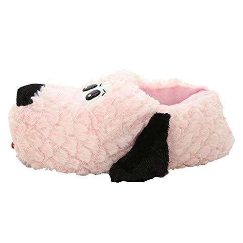catmoew Hausschuhe Zungenhund Hausschuhe Winter Weich Paar Hausschuhe Baumwolle Hausschuhe Süß Haushalt Warm halten Verdicken Plus Samt Plüschschuhe