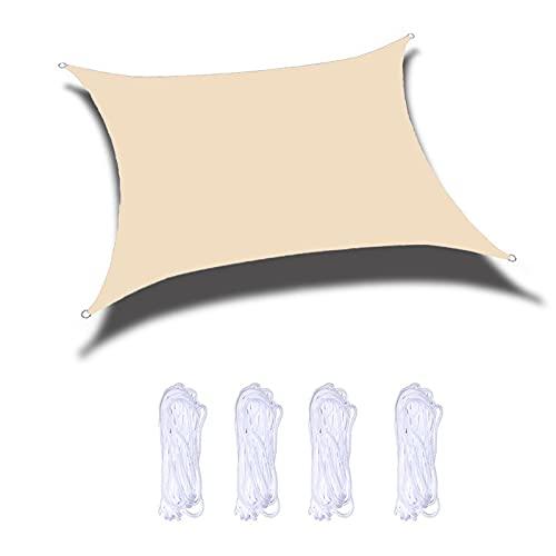 JNYB Parasol de vela rectangular de 6 x 7 pies, con protección UV, para patio, jardín, exteriores, toldo para patio, patio, jardín, toldo para patio, carne
