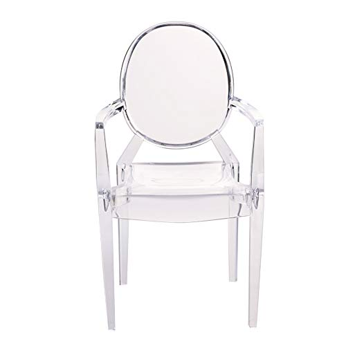 5 Stück Puppenhaus Stuhl Durchsichtiger Kunststoff Miniatur Sessel Set Modellmöbel für 1/6 Puppenhaus Zubehör