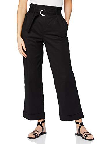 Intropia P792PAN06097600 Pantalones, Mujer, Negro (Negro 600), 34 (Tamaño del Fabricante:34)