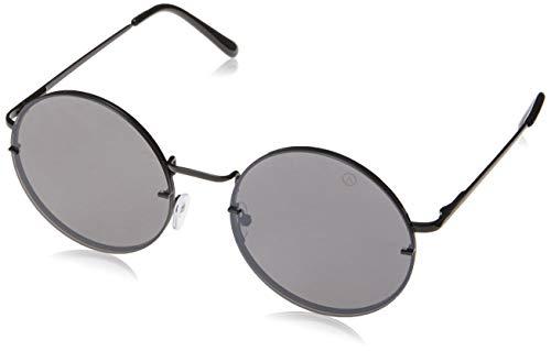 Óculos de Sol Didier, Les Bains, Redondo, Feminino, Preto, Único