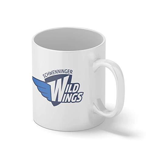 Schwenninger Wild Wings Eishockey Mannschaft Teamgeschenk Weißer Becher Mug   Lustige Neuheit Tassen für Kaffee Tee 312ml