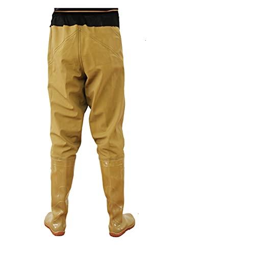 Pu-ai Pantalones de Pesca de Waders Pantalones de Cintura Impermeable conjuntamente con Media Media (Color : 43)