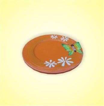 Keramikteller orange 15 cm 1 Stück