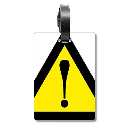 Warnzeichen gelb schwarz Safe Triangle Cruise Koffer Bag Tag Tourister Identifikationsetikett