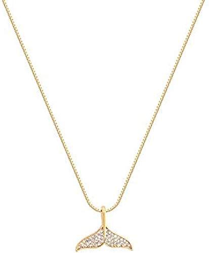 NC190 Collar con Colgante de Cola de pez Collar de Personalidad Femenina Collar de clavícula Temperamento Salvaje