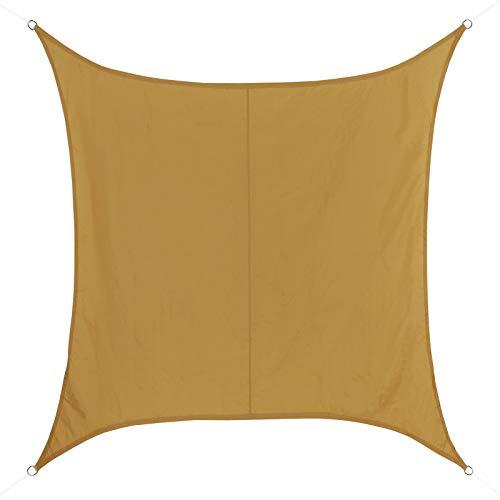 BB Sport Toldo Vela 5m x 5m Terracota Cuadrado 100% poliéster [PES] Vela Sombra Protección UV 30+ Balcon Jardin Terazza