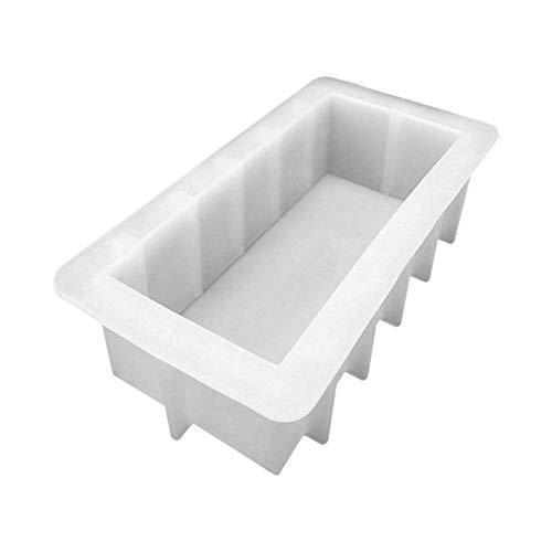 rethyrel Molde de silicona para jabón hecho a mano, 500 ml, molde de jabón hecho a mano, molde de silicona para jabón de bricolaje