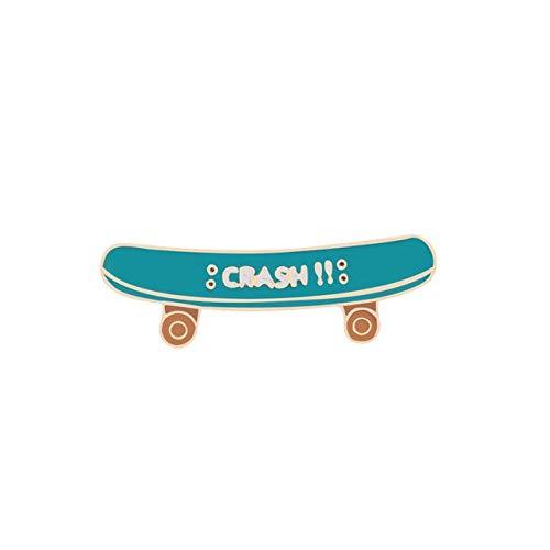 Funny Game Enamel Pins Poker Dice Skateboard Badge Brooch Denim Jeans Metal Lapel Pin Cartoon Jewelry Gift for Women Men Friends