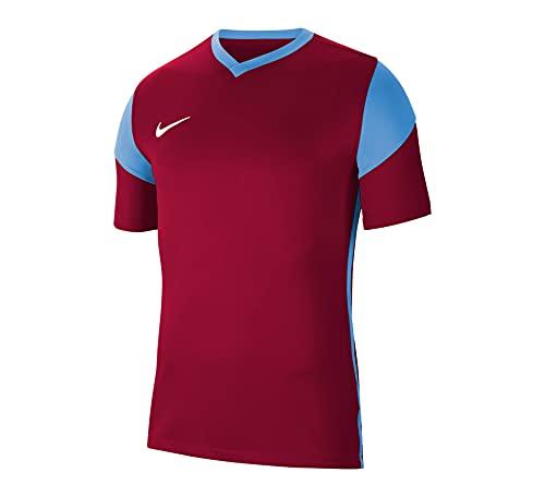 NIKE Camiseta para Hombre Park Derby III Jersey S/S, Hombre, Camiseta, CW3826-720, Amarillo Intenso, Azul Real, Azul Real y Blanco, Extra-Large