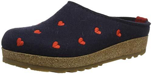 Haflinger Couriccini Grizzly, Unisex-Erwachsene Pantoffeln, Blau (Mittelblau 70), 37 EU