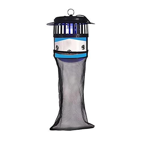 LILOVE Lámpara para Matar Mosquitos con Bolsa De Red, Lámpara Eléctrica para Trampa De Mosquitos, Trampa Eléctrica para Insectos, Trampa Eléctrica para Moscas para Exterior, Interior