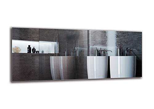 Espejo Standard - Espejo sin Marco - Dimensiones del Espejo 120x50 cm - Espejo de baño - Espejo de Pared - Baño - Sala de Estar - Cocina - Hall - M1ST-01-120x50 - ARTTOR