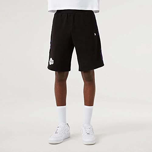 New Era Pantalones cortos NBA Los Angeles Lakers Print Panel Negro para Hombre, Negro , XXL