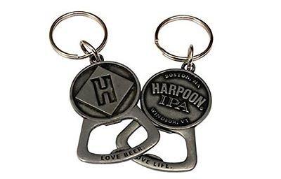 Harpoon Brewery Pewter Bottle Opener Keychain