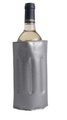 Enfriador DE Botellas DE Vino Gris DE 34 X 18 X 2 CM,Enfriador de Cava,Enfriador de Botellas,Enfriador de Vino,Enfriador Ajustable,Enfriador Ideal para el hogar