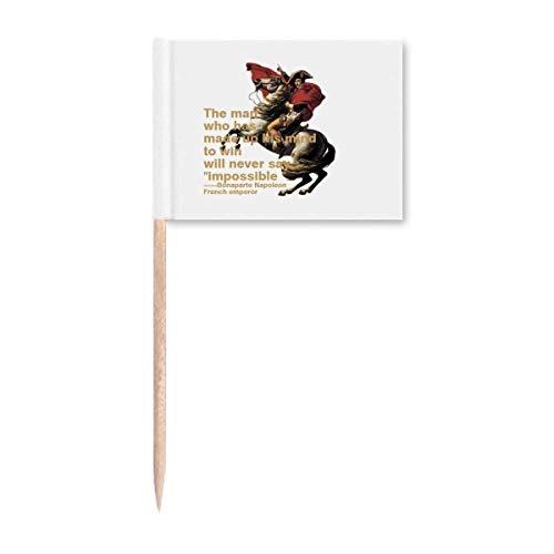 Napoleonischer Kriegs-Toothpick Flags Marker Topper Party Dekoration