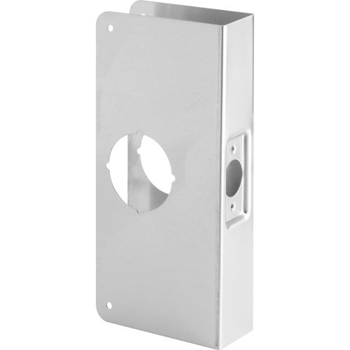 "Defender Security U 9551 Lock and Door Reinforcer, Stainless Steel – Fits 1-3/4"" Doors, 2-3/8"" Backset, Reinforce & Repair Wood/Metal Doors, Add Extra Security to Your Home,Helps Prevent Forced Entry"