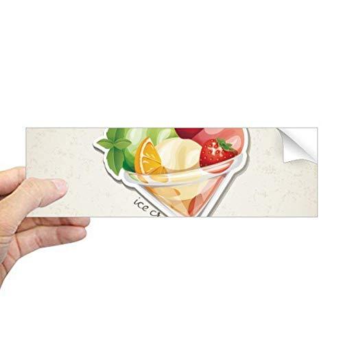 DIYthinker Kers Oranje Aardbei Fruit Zoete IJs Rechthoek Bumper Sticker Notebook Window Decal