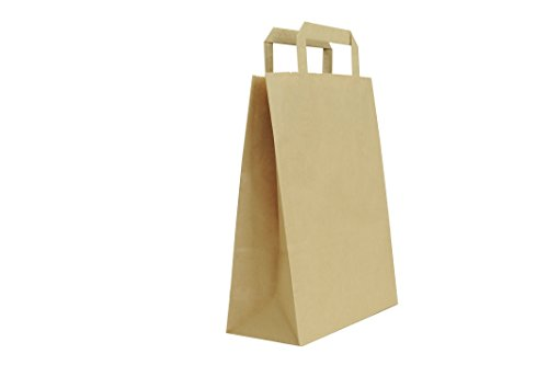 Carte Dozio 7-BCAG-25PZ - Shopper in Kraft color Avana, maniglia piatta, f.to cm 32+17x45, cf 25 pz