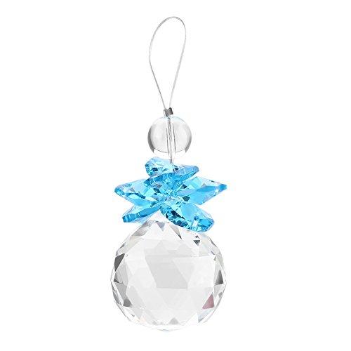 Zerodis 2 Stück, K9-Kristall-Sonnenfänger zum Aufhängen, mit Prismen-Anhänger, für Dekoration blau