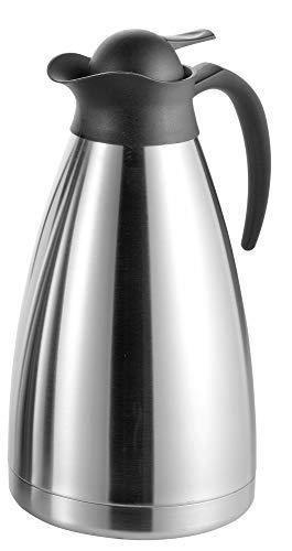 Esmeyer Isolierkanne Thermoart 2 Liter, Edelstahl, Silber/schwarz