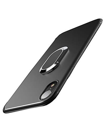 Hexcbay Coque iPhone XR,iPhone X/XS, TPU Pare-Chocs 360 degrés Anneau Support de Voiture...