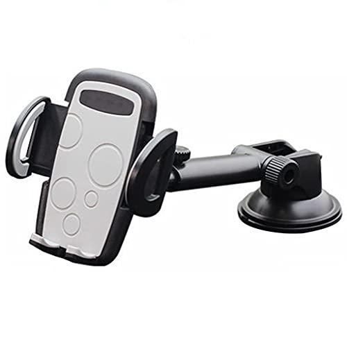 DXIUMZHP Soporte Coche Movil Aire Enchufe del Coche De Soporte para Teléfono Móvil, Soporte De Navegación para Camión con Ventosa, 360 Grados De Rotación Universal (Color : Black, Size : 22cm)