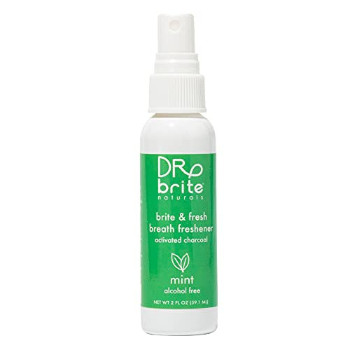 Dr. Brite Breath Freshener Mouth Spray with Mint and Activated Coconut Charcoal ( 2 Fl Oz)