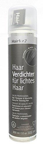 Hairfor2 Haarverdichtungsspray gegen lichtes Haar (300ml, Schwarz)